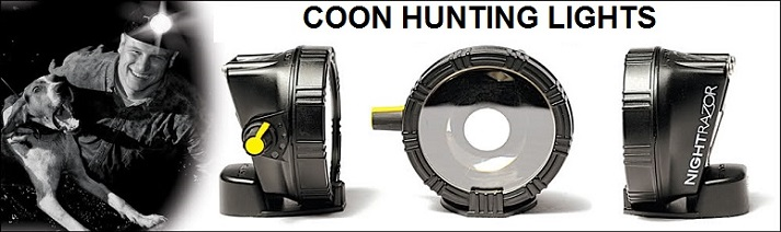 coon hunting supplies lights banner image