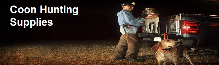 coon hunting supplies banner image